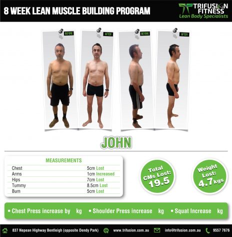 men's lean muscle building program  trifusion fitness