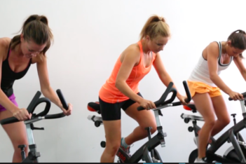 Trifusion Fitness 3 ladies on cycle machines